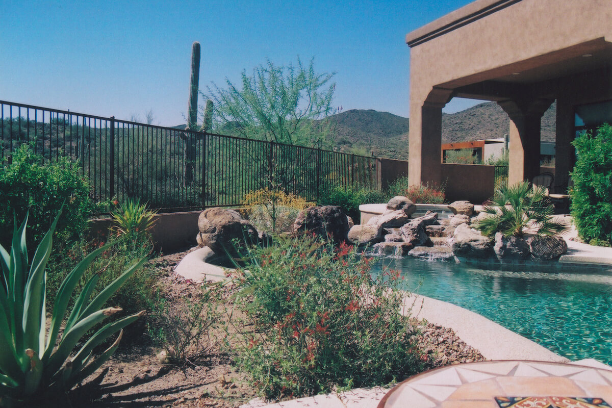Tucson mountains jaz landscape design for Pool design tucson